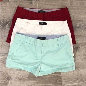 🌟HP🌟 JCrew Chino Shorts (Set of 3, size 6)